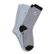 Les Lucas duo - 2 pack socks blue & white