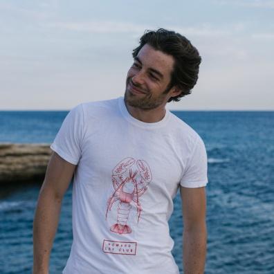 Le Jean F Homard - White printed t-shirt