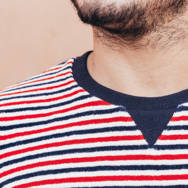 Le Loïc - Blue White and Red sweat-shirt