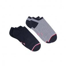 Les Jo - Short socks pack (blue and white)