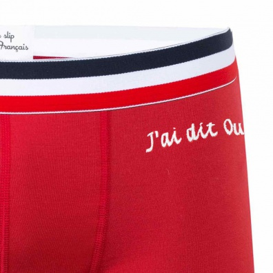 J'ai dit oui ! - Red embroidered boxer brief