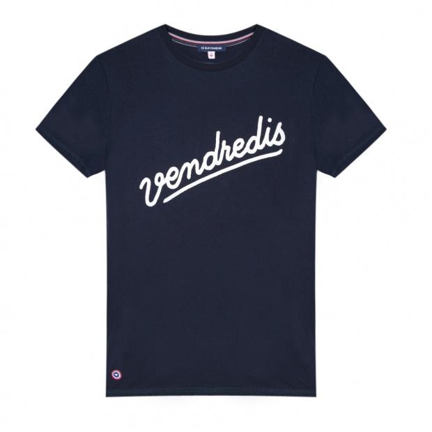 Le Jean F Vendredi marine - Blue t-shirt