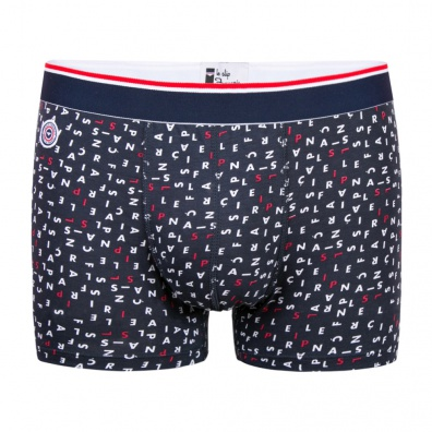 Le Marius Crosswords - Printed blue boxer brief
