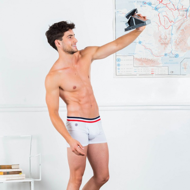 Le Ferdinan white - White Boxer Brief with pocket