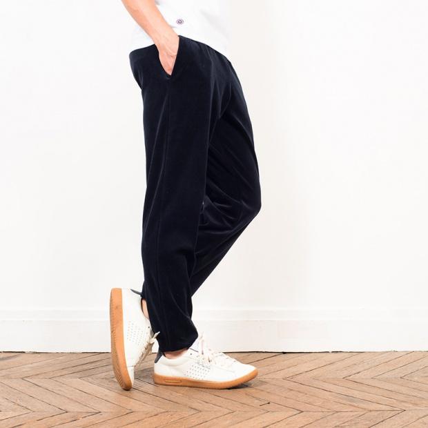 Le Toudour - Blue velvet pyjama pants