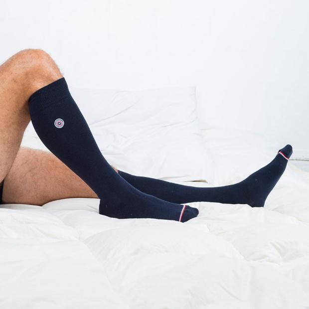 Les Daniel - Blue Cobalt knee-high socks
