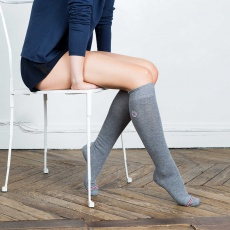 Les Daniel - Blue Cobalt knee-high socks