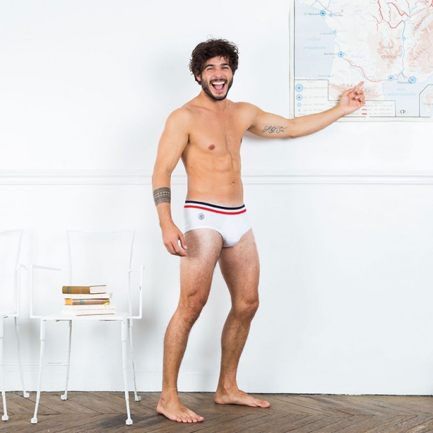 Le Gontran white - White brief with pocket