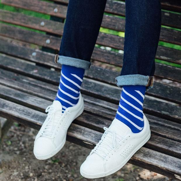 Les Lucas - Blue striped Socks