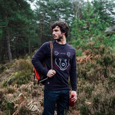 Le Robin bear - Navy blue Sweatshirt with bear print