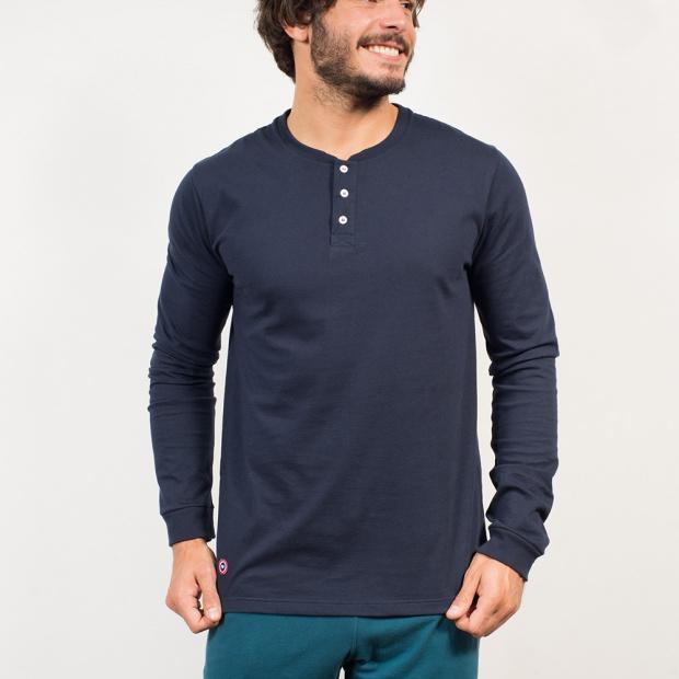 Le Roger Navy - Tunisian t-shirt navy