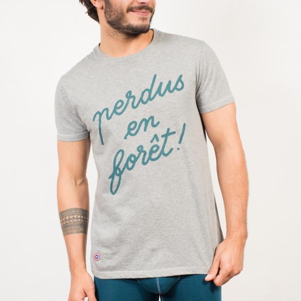 Le Jean F En Forêt grey - T-shirt gris