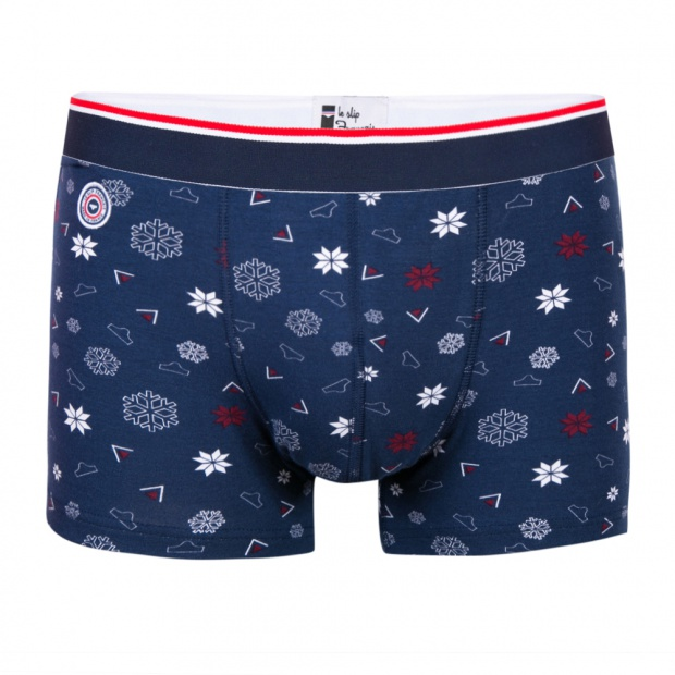 Le Marius flocon - Snowflake printed Boxer Brief