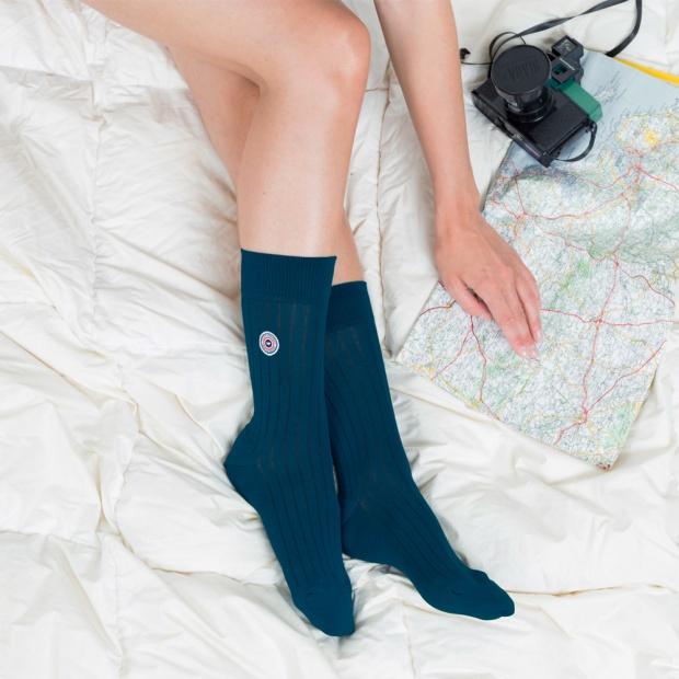 Les Nessy duck green - duck green scottish thread socks