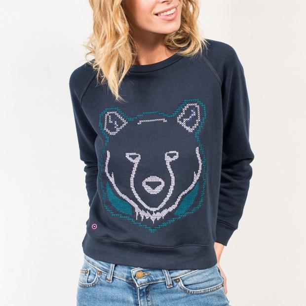 La Sophie Ours - Blue Sweatshirt