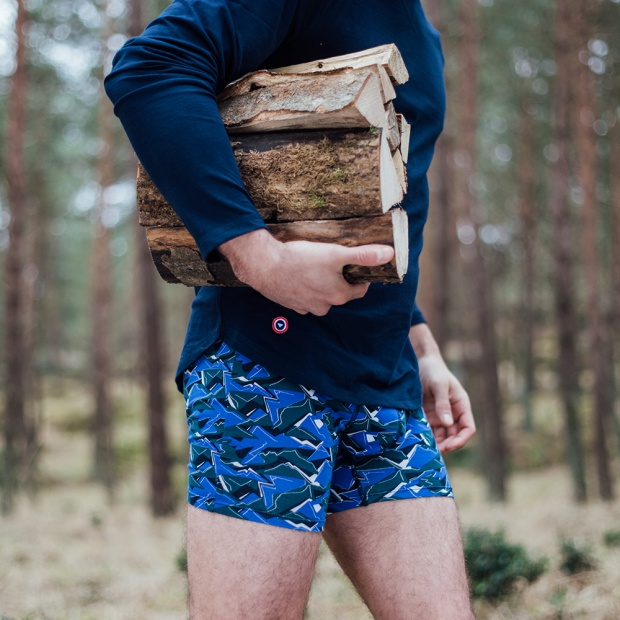 Le Michel camouflage - Long Boxer Brief with camouflage print