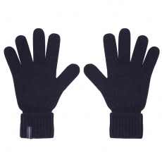 Les Adrien - Navy knitted wool gloves