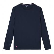 Le Damien Bleu Marine - T-shirt manches longues bleu marine