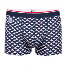 Le Montagnard - Blue multi-triangle boxer brief