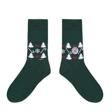Les Lucas fir tree - green socks