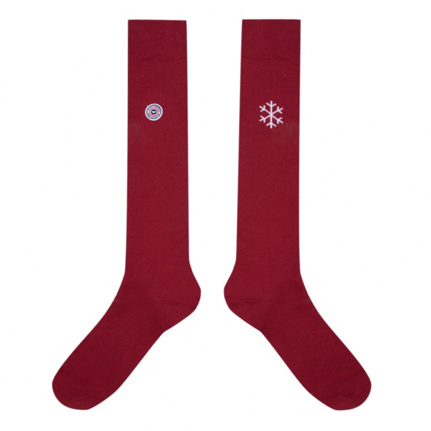 Les Nicolas Anthracite - Embroidered grey socks