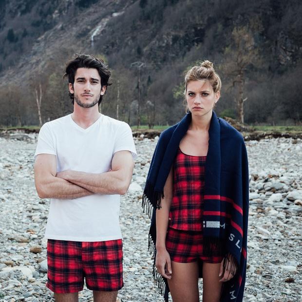La Pio Tartan - Tartan Printed Pyjama shorty