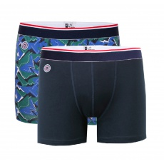 Le Michel Duo - Duo Boxers Longs Marine et Camouflage