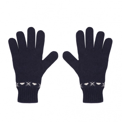 Les citadins navy - wool gloves