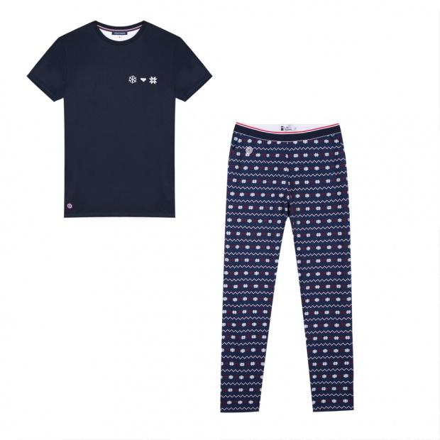 Le Dodo Snowflake - Snowflakes printed pyjama