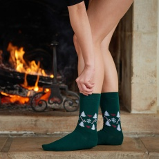 Les Lucas fir tree - green socks