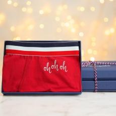 Le Marius Noël Red - Boxer Brodé Rouge de Noël