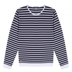 La Marin - Blue-white striped t-shirt